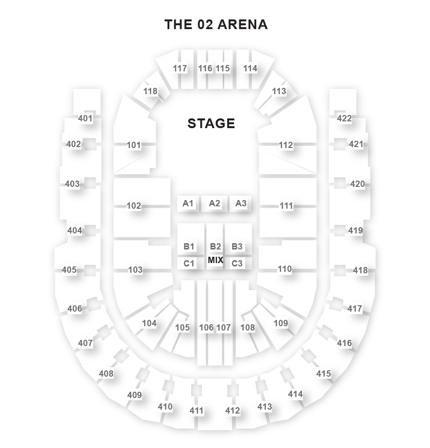The O2 Arena Seating Plan Londontheatre Co Uk