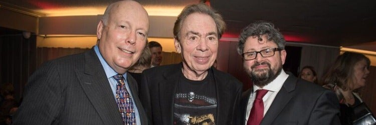Julian Fellowes, Andrew Lloyd Webber, Laurence Connor (Photo Craig Sugden)