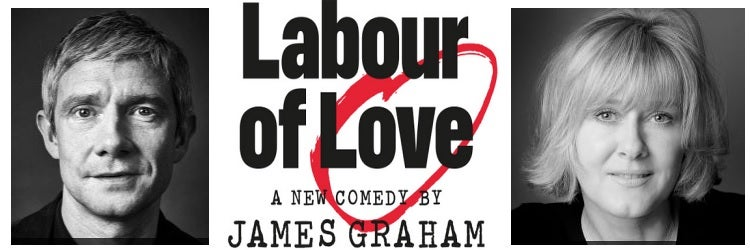 Martin Freeman and Sarah Lancashire star in James Graham's Labour of Love at the Noel Coward Theatre