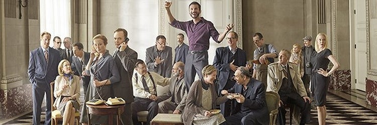 The cast of OSLO. Photo by Mark Seliger