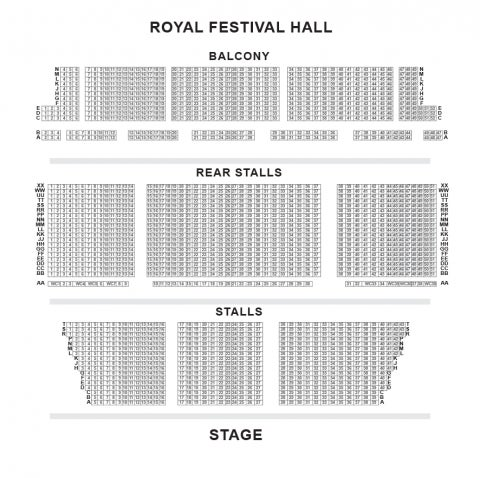 Royal Festival Hall seat plan
