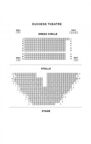 Duchess Theatre seat plan