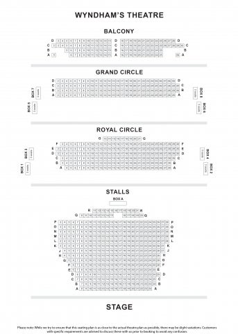 Wyndham's Theatre seat plan
