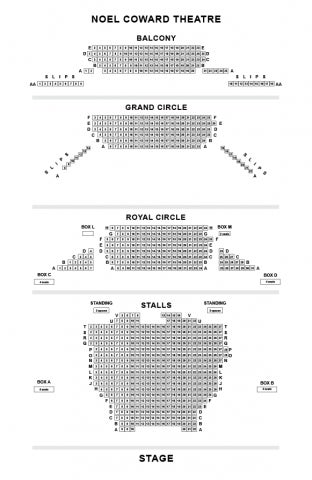 Noel Coward Theatre seat plan