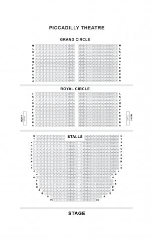 Piccadilly Theatre seat plan