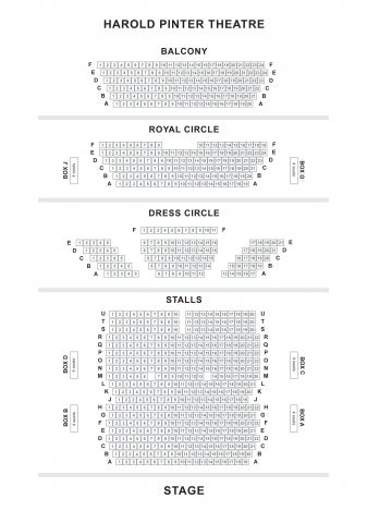 Harold Pinter Theatre seat plan