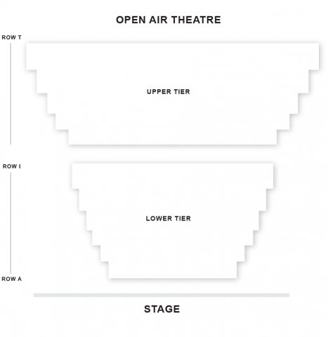 Regent's Park Open Air Theatre seat plan
