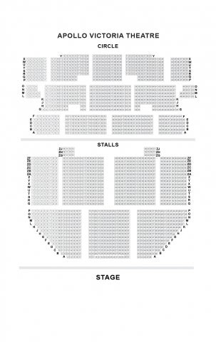 Apollo Victoria Theatre seat plan