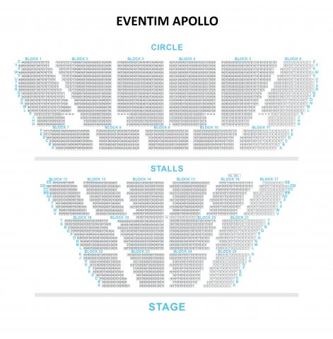 Eventim Apollo seat plan