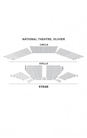 Olivier Theatre, National seat plan