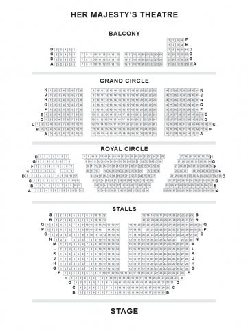 Her Majesty's Theatre seat plan