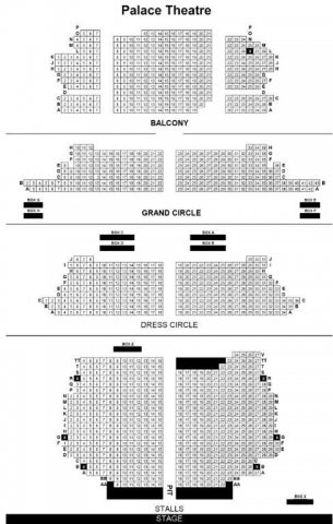 Palace Theatre seat plan