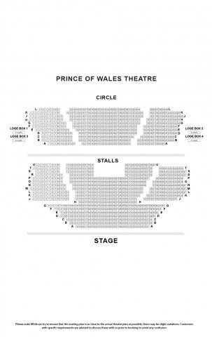 Prince of Wales Theatre seat plan