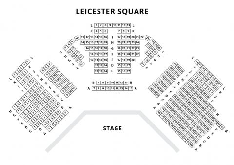 Leicester Square Theatre seat plan