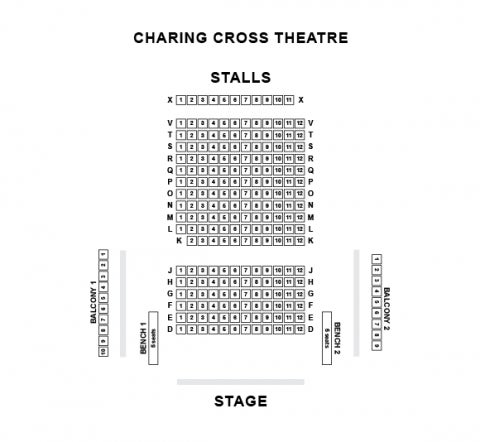 Charing Cross Theatre seat plan