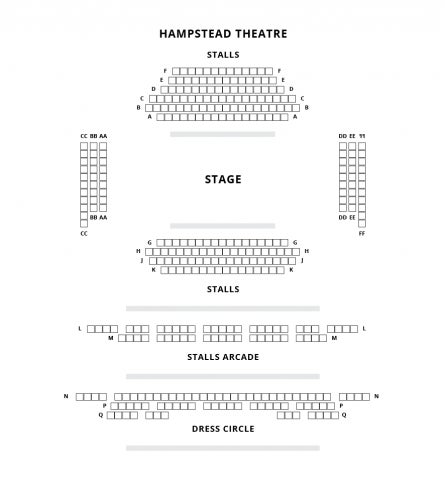 Hampstead Theatre seat plan