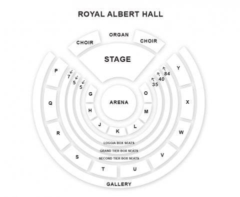 Royal Albert Hall seat plan