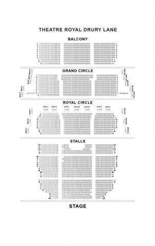 Theatre Royal Drury Lane seat plan