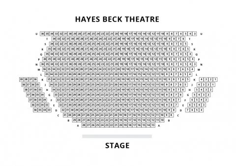 The Beck Theatre, Hayes seat plan