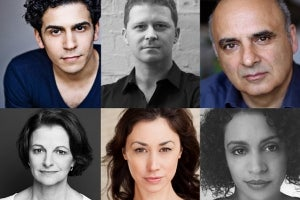 Cast of Working at the Southwark Playhouse
