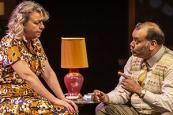 Photo credit: Sophie Stanton and Tony Jayawardena in East is East (Photo by Pamela Raith Photography)