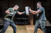 Adrian Lester and Danny Sapani in Hymn (Photo by Marc Brenner)