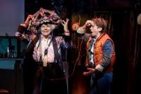 Roger Bart and Olly Dobson as Dr. Emmett Brown and Marty McFly in Back to the Future the Musical (Photo by Sean Ebsworth Barnes)
