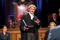 Photo credit: Jo Stone-Fewings and cast in Witness for the Prosecution (Photo by Ellie Kurttz)