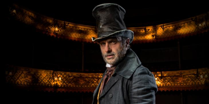Photo credit: Andrew Lincoln as Ebenezer Scrooge (Photo by The Old Vic)