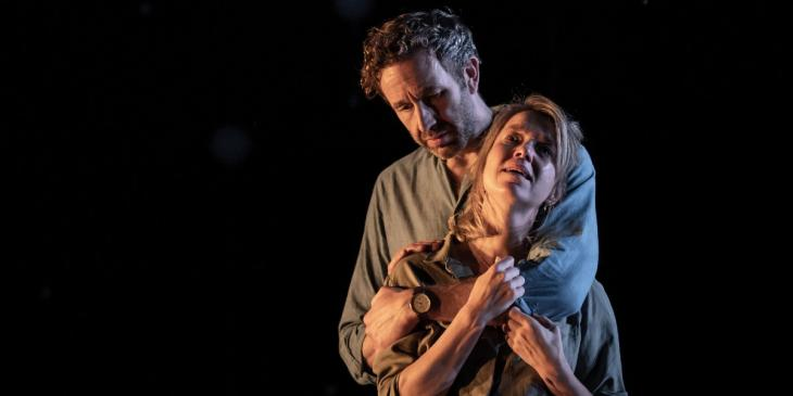Anna Maxwell Martin and Chris O'Dowd in Constellations (Photo by Marc Brenner)
