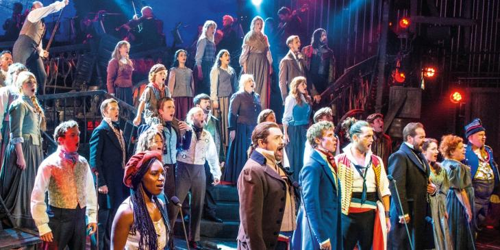 Photo credit: Cast of Les Miserables (Photo by Michael Le Poer Trench)