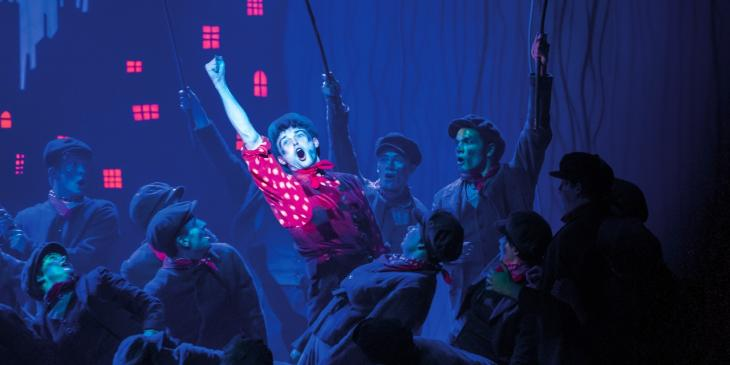 Charlie Stemp as Bert in Mary Poppins (Photo by Johan Persson)