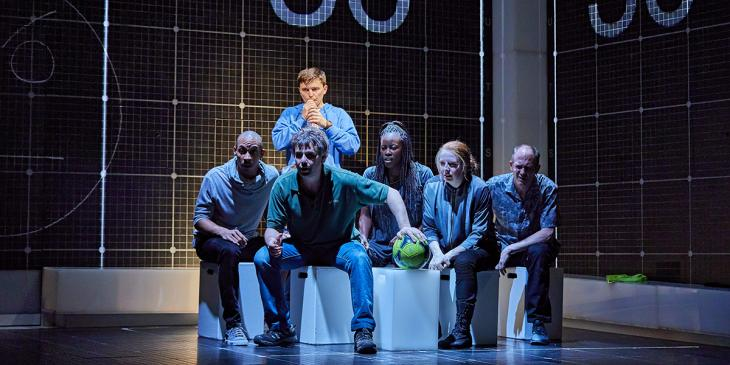 Photo credit: 2017-18 cast of The Curious Incident of the Dog in the Night-Time (Photo by Brinkhoff/Mogenburg)