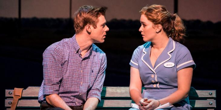 Photo credit: David Hunter and Lucie Jones in Waitress (Photo by Johan Persson)