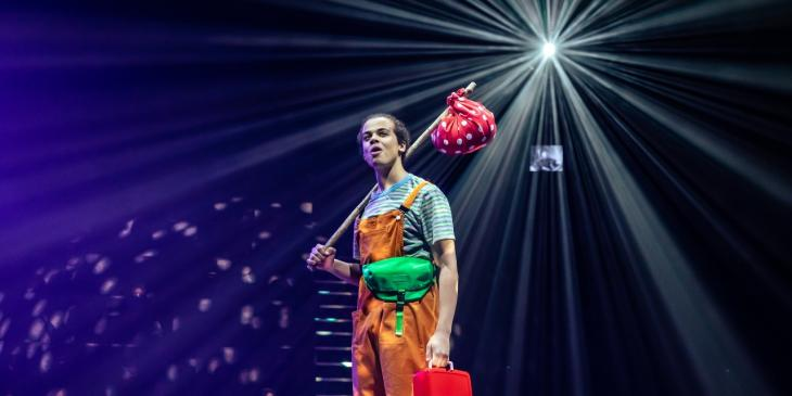 Lawrence Hodgson-Mullings in Dick Whittington at the National Theatre (Photo by The Other Richard)
