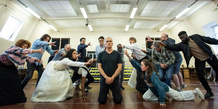 Photo credit: The Mirror and the Light cast in rehearsals (Photo courtesy of Bread and Butter PR)