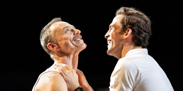 Photo credit: Ben Daniels and Dino Fetscher in The Normal Heart (Photo by Helen Maybanks)