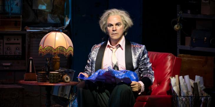 Roger Bart in Back to the Future The Musical (Photo by Sean Ebsworth Barnes)