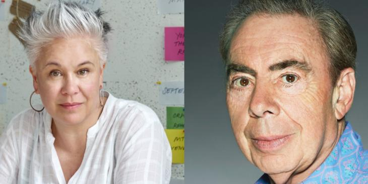 Photo credit: Andrew Lloyd Webber and Emma Rice (Photos by John Swannell and Guardian News Media LTD 2018 respectively)