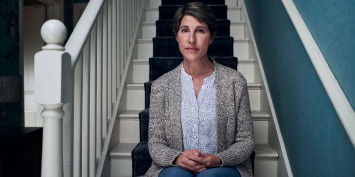 Tamsin Greig in Nights of the Garden of Spain at the Bridge Theatre (Photo by Zac Nicholson)
