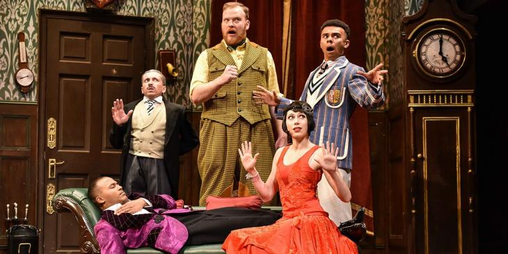 The Play That Goes Wrong reopen at Duchess Theatre