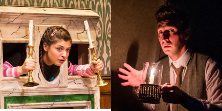 Photo credit: The Play That Goes Wrong and The Woman in Black (Photos by Helen Murray and Tristram Kenton respectively)