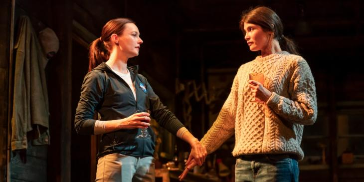 Lydia Wilson and Gemma Arterton in 'Walden' (Photo by Johan Persson)