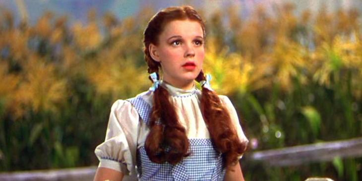 Photo credit: Judy Garland in The Wizard of Oz (Photo by Shutterstock)