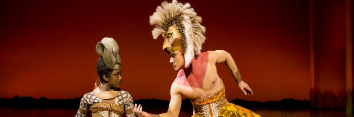Nick Afoa and Janique Charles in The Lion King