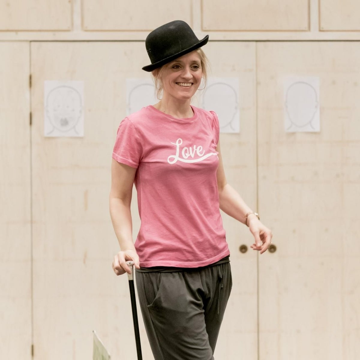 Anne-Marie Duff in rehearsals for Sweet Charity