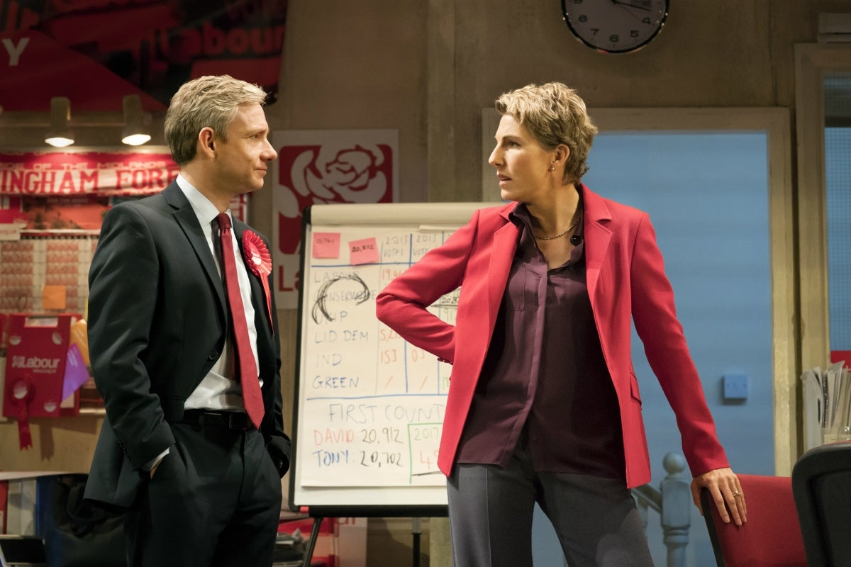 Martin Freeman and Tamsin Greig in Labour of Love
