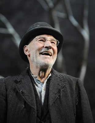 Patrick Stewart in Waiting For Godot at the Theatre Royal Haymarket