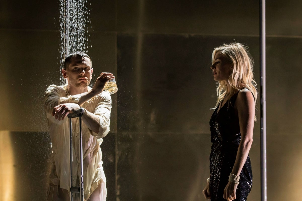 Jack O'Connell (Brick) and Sienna Miller (Maggie)