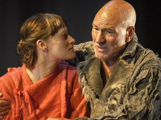 Patrick Stewart as Prospero in The Tempest at the Novello Theatre 2007